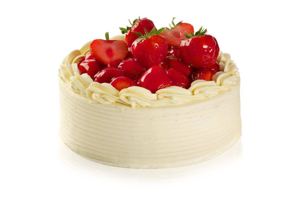 Strawberries On Top Of Cake