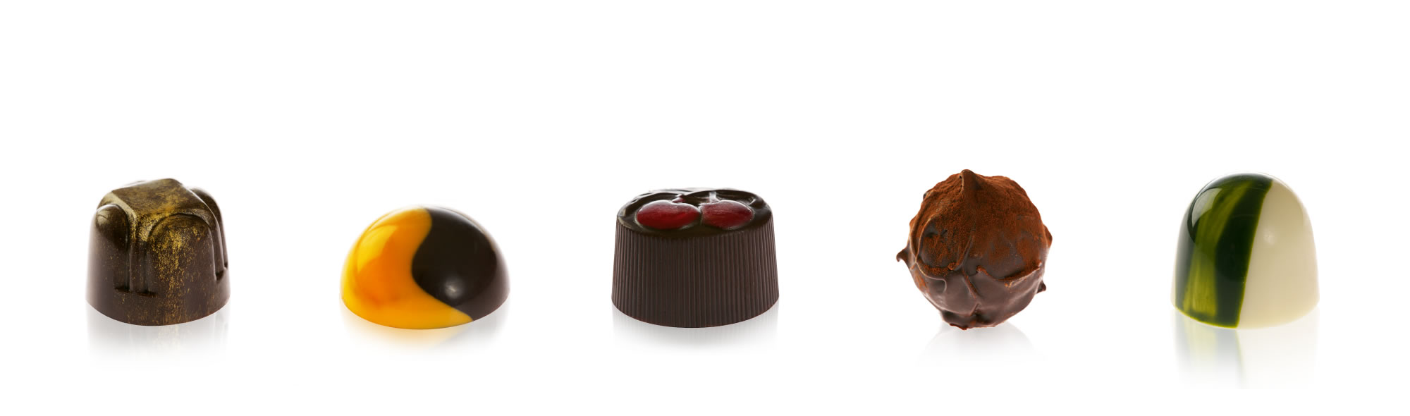 Exquisite handmade chocolates:Shop now >